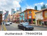 singapore   feb 17  2017  busy... | Shutterstock . vector #794443936
