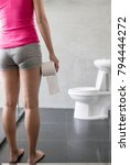 woman with urine urgency in the ... | Shutterstock . vector #794444272
