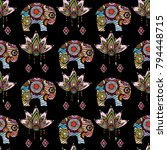 vintage graphic vector indian... | Shutterstock .eps vector #794448715