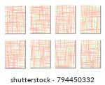 geometric covers. abstract... | Shutterstock .eps vector #794450332