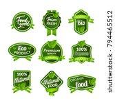 organic health food badge seal... | Shutterstock .eps vector #794465512