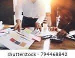 business meeting  business... | Shutterstock . vector #794468842