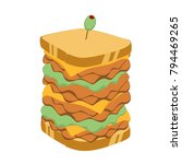 super thick club sandwich with... | Shutterstock .eps vector #794469265