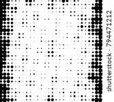 abstract grunge grid polka dot... | Shutterstock . vector #794471212