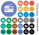 vintage retro radio multi... | Shutterstock .eps vector #794476312