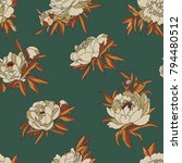 vintage vector pattern with... | Shutterstock .eps vector #794480512