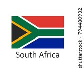 flag of south africa with name... | Shutterstock .eps vector #794480932