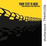 vector automotive banner... | Shutterstock .eps vector #794491336