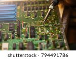 computer diagnostics  board... | Shutterstock . vector #794491786