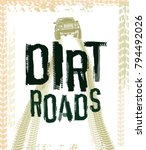 off road hand drawn grunge... | Shutterstock .eps vector #794492026