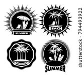 icon summer holiday on the... | Shutterstock . vector #794493922