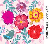 floral seamless pattern with... | Shutterstock .eps vector #79449574