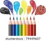 set of colored pencils  ... | Shutterstock .eps vector #79449607