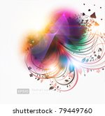 abstract floral magic... | Shutterstock .eps vector #79449760