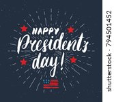 happy president's day vintage... | Shutterstock .eps vector #794501452