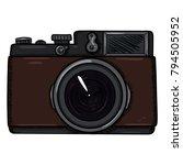 vector cartoon retro vintage... | Shutterstock .eps vector #794505952