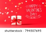 valentine's day message with... | Shutterstock . vector #794507695