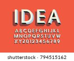 vector of modern bold font and... | Shutterstock .eps vector #794515162