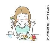 vector illustration character... | Shutterstock .eps vector #794516398