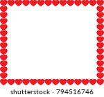 cute red cartoon hearts love... | Shutterstock .eps vector #794516746