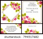 invitation with floral... | Shutterstock .eps vector #794517682