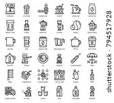 coffee's equipment icon set ... | Shutterstock .eps vector #794517928