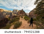this is the picture of hikers... | Shutterstock . vector #794521288