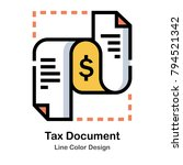document with currency symbol... | Shutterstock .eps vector #794521342