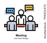 people discuss to each other... | Shutterstock .eps vector #794521372