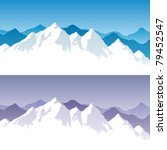 Background With Snowy Mountain...