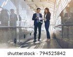 business partners team... | Shutterstock . vector #794525842