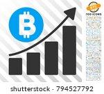 bitcoin bar chart trend...   Shutterstock .eps vector #794527792
