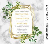 wedding invitation floral card... | Shutterstock .eps vector #794527975