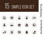 set of 15 infrastructure icons... | Shutterstock .eps vector #794530726