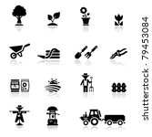 icons set argiculture and...