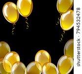 golden vector balloons. holiday ...   Shutterstock .eps vector #794532478