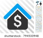 loan mortgage pictograph with...   Shutterstock .eps vector #794533948