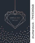 happy valentine's day. vector...   Shutterstock .eps vector #794534068