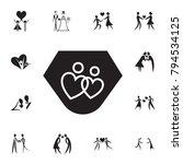 loving couple in the shape of... | Shutterstock .eps vector #794534125