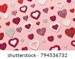 valentine's day background. red ... | Shutterstock . vector #794536732