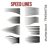 comic book design element speed ... | Shutterstock .eps vector #794544736