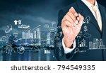 project management ideas... | Shutterstock . vector #794549335
