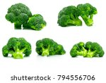 set of green broccoli  brassica ... | Shutterstock . vector #794556706