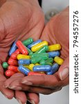 woman holding prescription...   Shutterstock . vector #794557276