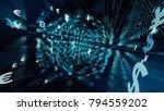 financial technology concept.... | Shutterstock . vector #794559202