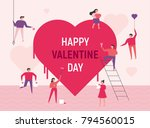 downsizing characters that...   Shutterstock .eps vector #794560015