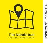 map location bright yellow...