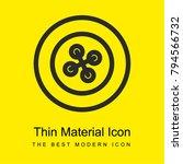 circular button bright yellow...