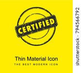 circular label with certified... | Shutterstock .eps vector #794566792