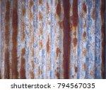 Old Zinc Wall  Rusty Zinc Fenc...